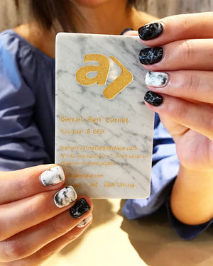 marble business card