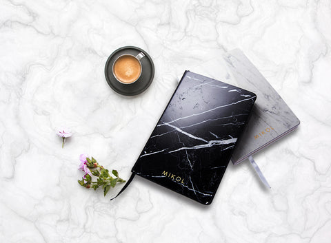 marble notebook entry