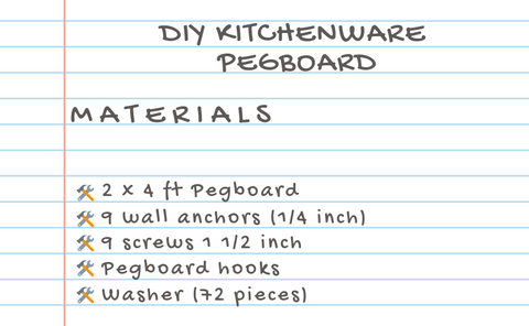 Kitchenware Pegboard