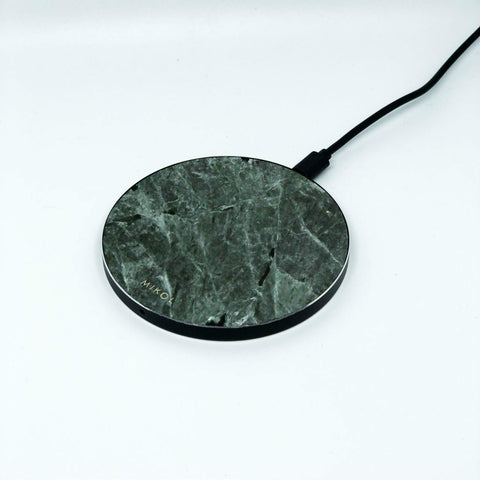 Green Marble Wireless Charging Pad