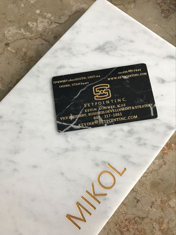 Nero Marquina Marble Business Card