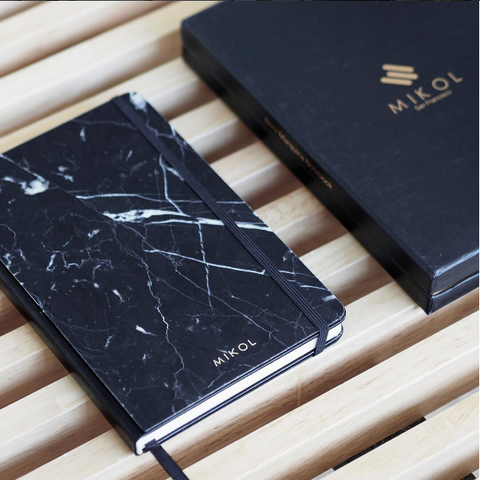 Nero Marquina Marble Notebook Journal