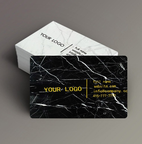 Nero marquina marble business cards mikol each business card is credit card thin then laser engraved to ensure the finest quality our cutting edge laser technology guarantees precision to make sure colourmoves