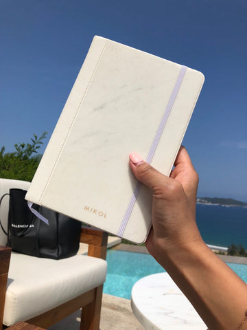 Carrara White Notebook