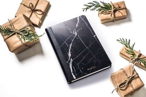 marble notebook planner