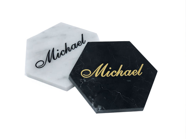 Personalized Marble Coasters - MIKOL