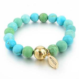 Aquamarine Beaded Bracelet (Available Now) - MIKOL