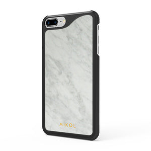 Carrara White (Black Border) Marble iPhone Case - MIKOL