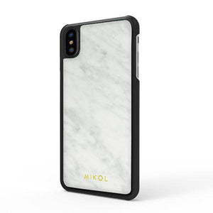 Carrara White (Black Border) Marble iPhone Case (Limited Quantity) - MIKOL
