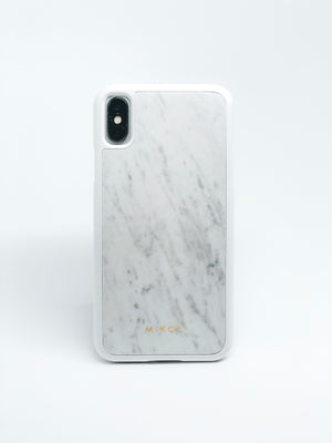 Carrara White Marble iPhone Case - MIKOL