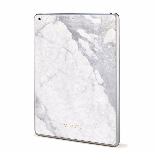 Carrara White Marble iPad Cover (White Border) - MIKOL