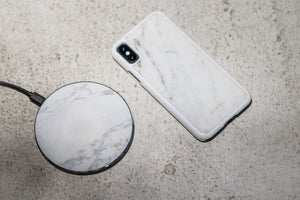 Carrara Marble Wireless Charging Pad (Back in Stock!) - MIKOL
