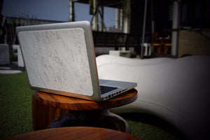 Carrara White Marble MacBook Cover - MIKOL - 2