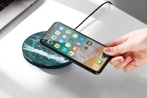 Emerald Green Marble Wireless Charger