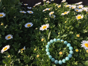 Sky Blue Beaded Bracelet - MIKOL