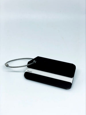 metal luggage tag