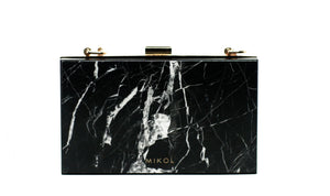 Mish Nero Marquina Marble Clutch (Available Now!) - MIKOL