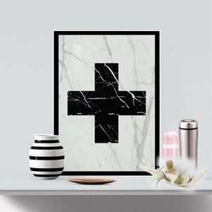 Real Marble Cross Art Piece - MIKOL