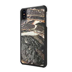 Leather Finish Nero Gold iPhone XS case