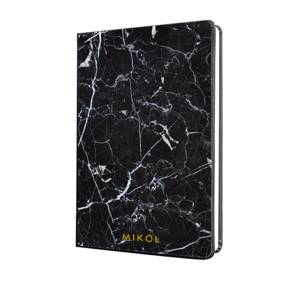 Nero Marquina Marble Notebook (Pocket Size) - MIKOL - 1