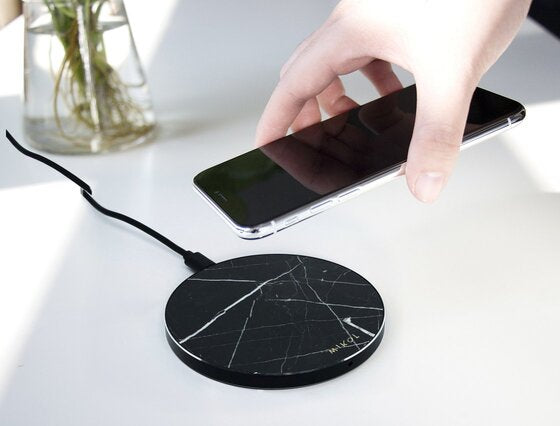 Nero Marquina Marble Wireless Charging Pad (Now Available!)
