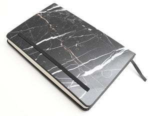 Nero Marquina Marble Notebook (Pocket Size) - MIKOL