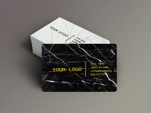 Nero Marquina Marble Business Cards  Auto renew - MIKOL
