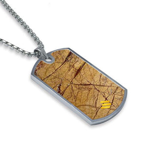 Desert Sand Marble Dog Tag Necklace