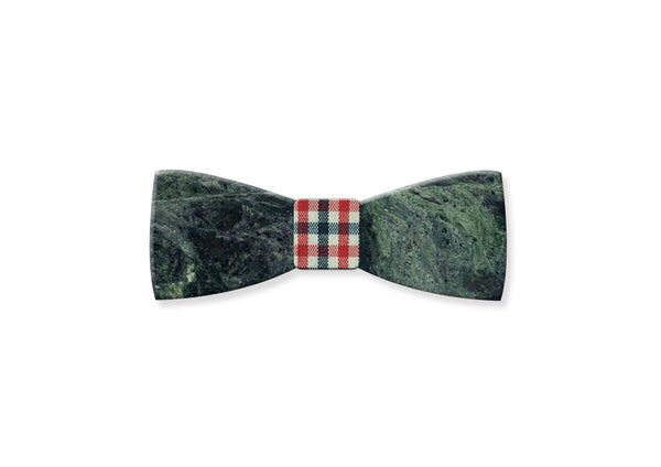 Emerald Green Marble Bow Tie - MIKOL