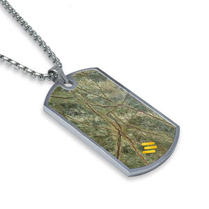 Forest Green Marble Dog Tag Necklace