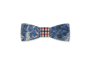 Laguna Blue Gemstone Bow Tie - MIKOL