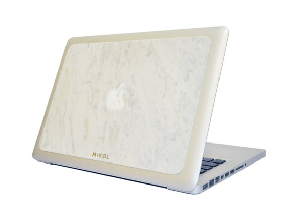 Carrara White Marble MacBook Cover - MIKOL