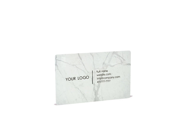 Carrara White Marble Business Cards - MIKOL