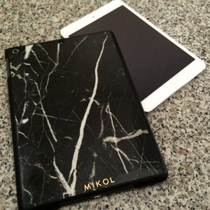 Nero Marquina Marble iPad Cover (Black Border) - MIKOL