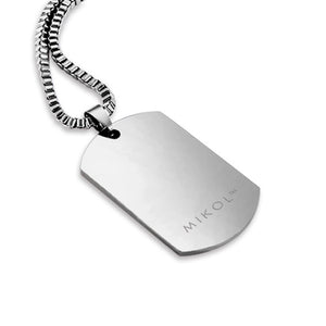 Carrara White Marble Dog Tag - MIKOL