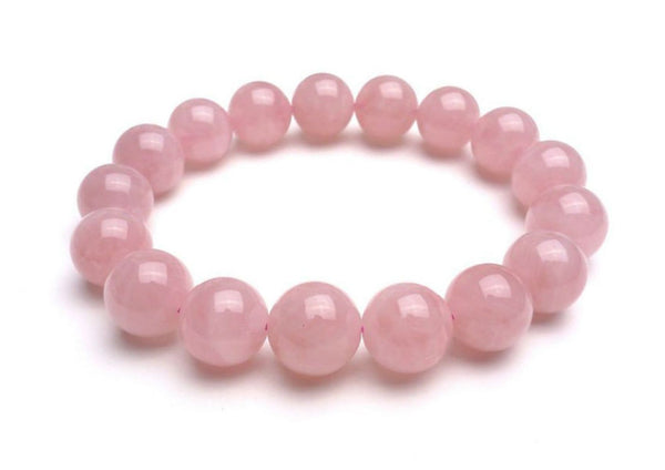Pink Quartz Beaded Bracelet - MIKOL