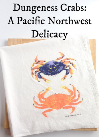 Dungeness Crab Tea Towel