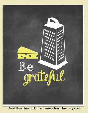 Be Grateful art print gift for Mother's Day
