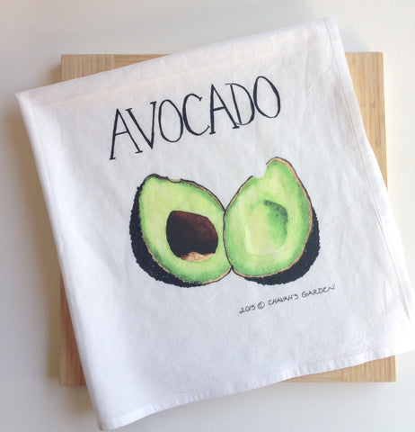 Avocado Dish Towel, Vegetable Tea Towel