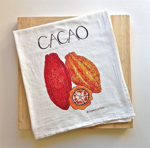 Cacao (chocolate) tea towel