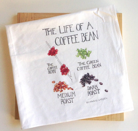 Deluxe Coffee Bean Tea Towel