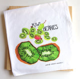 Kiwi and Kiwi Berry Flour Sack Tea Towel