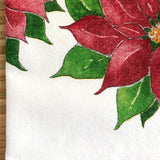 Poinsettia Holiday Tea Towel