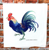 Rooster Tea Towel, Flour sack kitchen towel