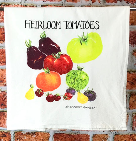 Heirloom Tomatoes Tea Towel, Colorful Dish Cloth