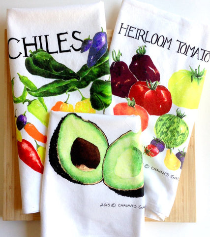 Tea Towel Mini-Collection:  Any Three Flour Sack Tea Towels