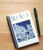 Blank notebook, watercolor of sea kale cover