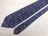 Novelty Tie Andrea Silardi Marching Band on Navy Blue Silk Men Necktie 48