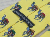 Animal Tie LudwigAmDomMunchen Camel on Bright Yellow Silk Men Necktie 48