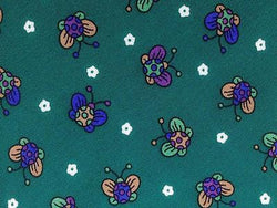 Animal Print TIE Cute Butterfly Insect on Green  ITALY Silk Men Necktie 10